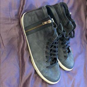 Tretorn Hi-Top charcoal gray  shoes.